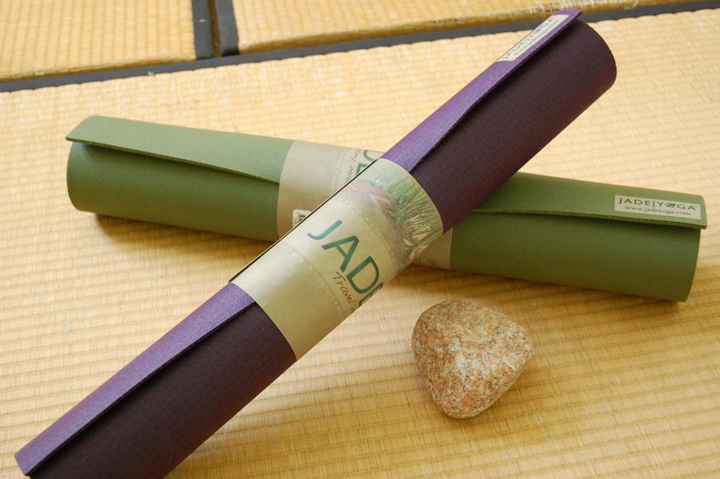 Olive Green and Purple Jade Harmony Professional Yoga Mats