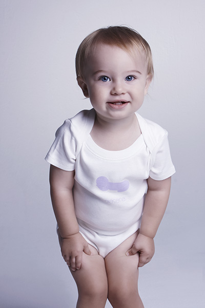 Chakras By Didi White Sleepy Pose Babygro