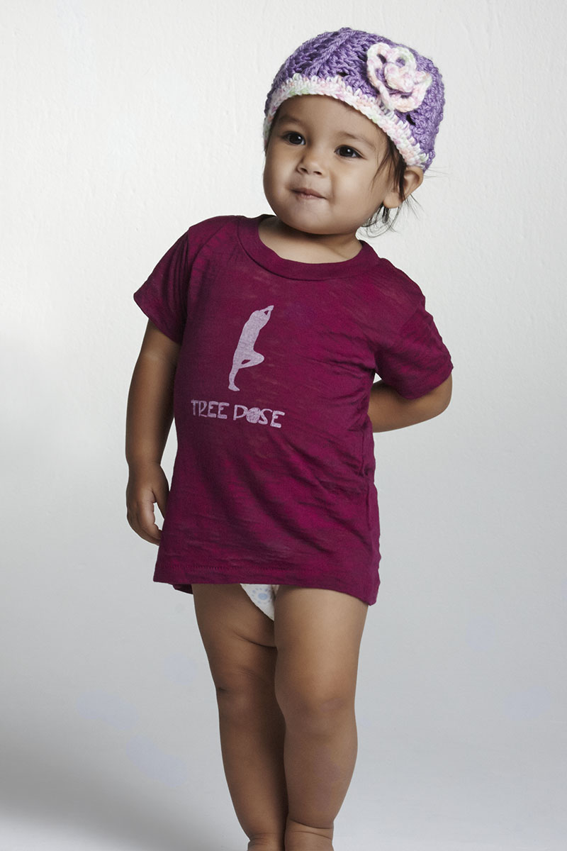 Chakras By Didi Toddler Burnout TShirt Violet Tree Pose