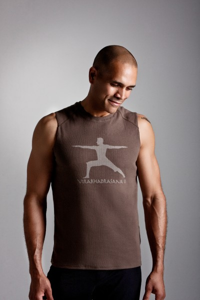 Chakras By Didi Mens Yoga Sporty TShirt Warrior Two