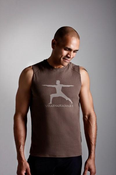 Chakras By Didi Mens Yoga Sporty TShirt Warrior Two