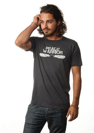 Be Love Mens Peace Warrior Yoga T-Shirt