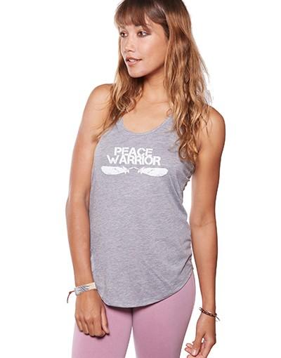 Be Love Apparel Peace Warrior Yoga Racer T