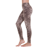 Liquido Active Gold Python Yoga Leggings